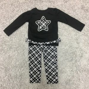 Black and White Star Outfit